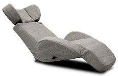 座椅子型リクライニングソファ マンボウソファ プレミアム 無段階レバー 布地 グレー