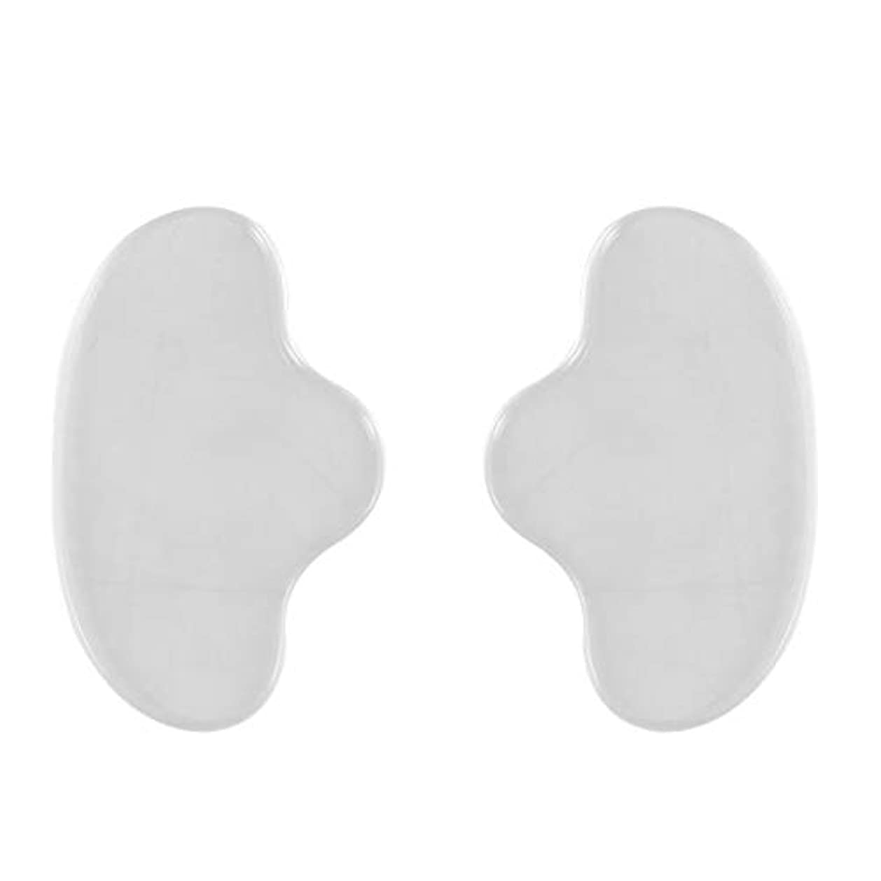 期限基礎理論自伝Healiftyシリコンフェイシャルチンマスクフェイスパッドシワ防止リムーバーパッチ再利用可能な見えないパッド防止フェイスシワ2個