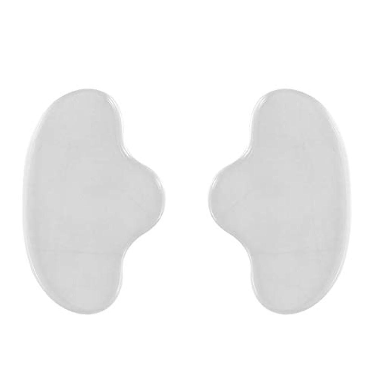 放射性並外れた集中的なHealiftyシリコンフェイシャルチンマスクフェイスパッドシワ防止リムーバーパッチ再利用可能な見えないパッド防止フェイスシワ2個