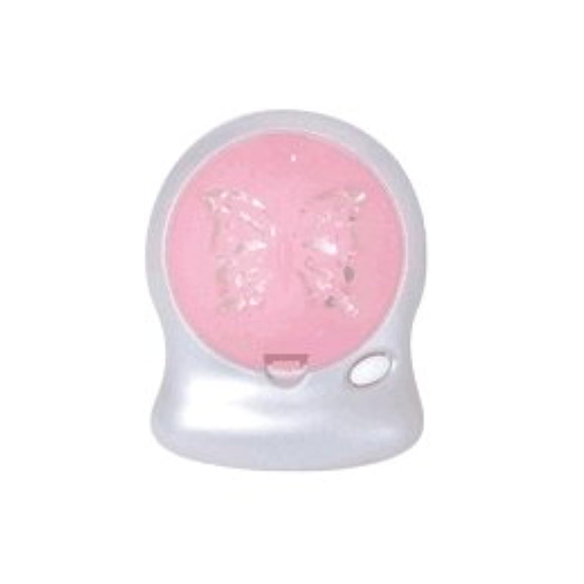 彫刻有効スペルアロマブリーズ Nova t Jill (蝶柄) ピンク オフタイマー付モバイルファン式芳香器