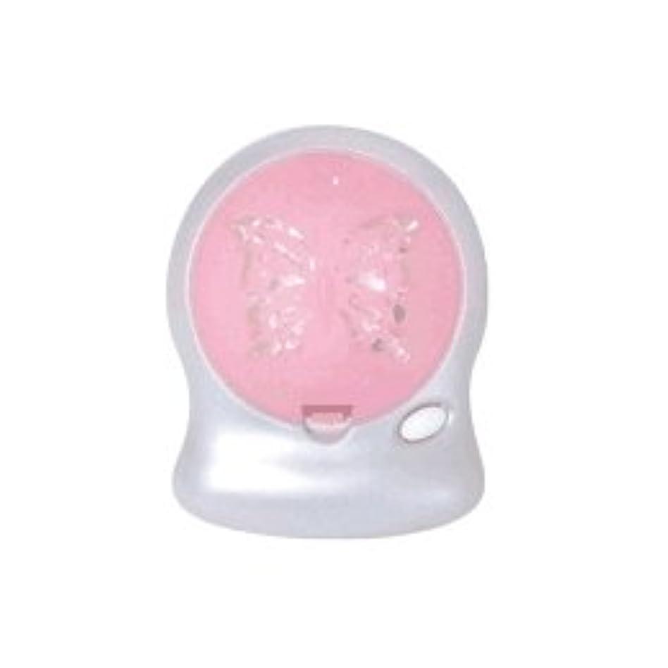 第九上流の寝てるアロマブリーズ Nova t Jill (蝶柄) ピンク オフタイマー付モバイルファン式芳香器