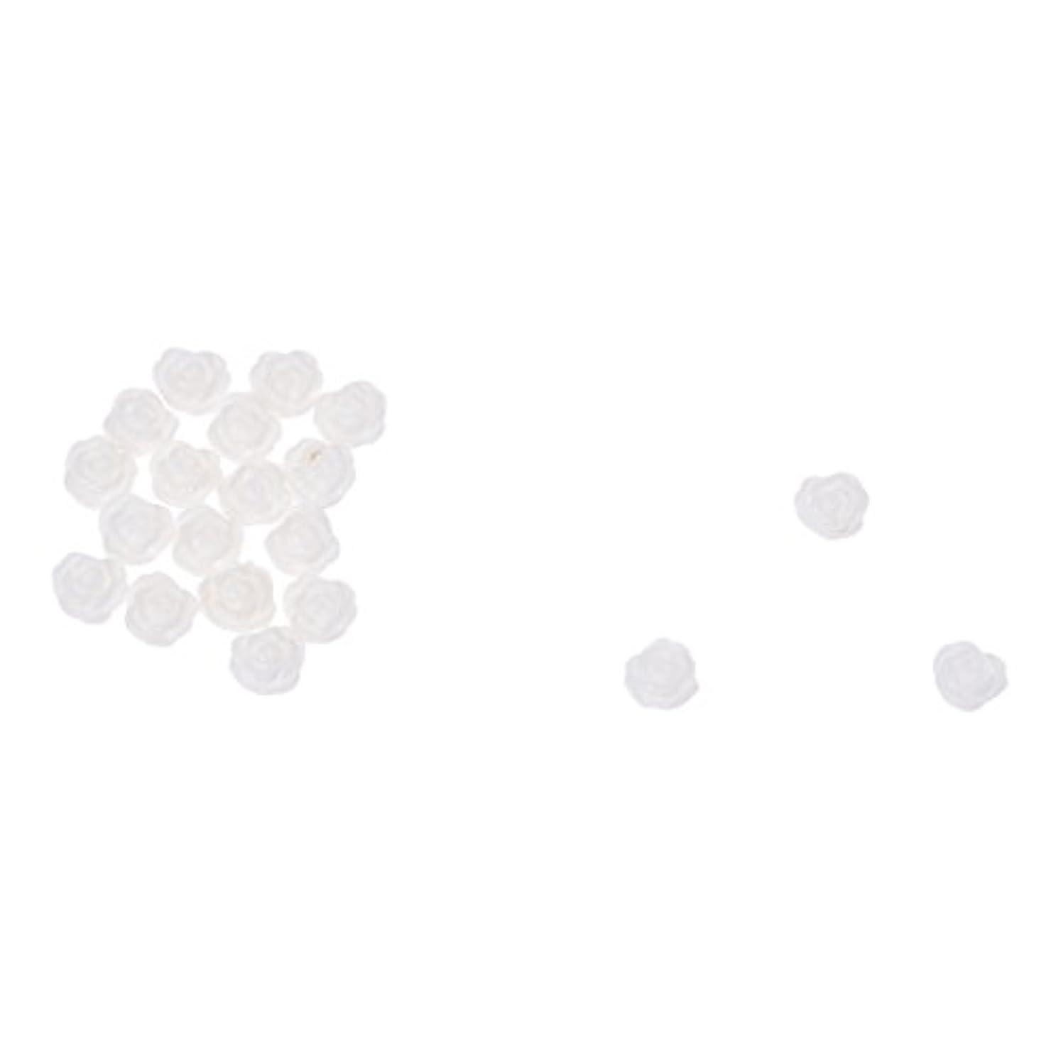 ソート保守的でもACAMPTAR ACAMPTAR(R)20×アクリル 3D 白い花 スライスネイルアートヒント UVジェル DIYデコレーション
