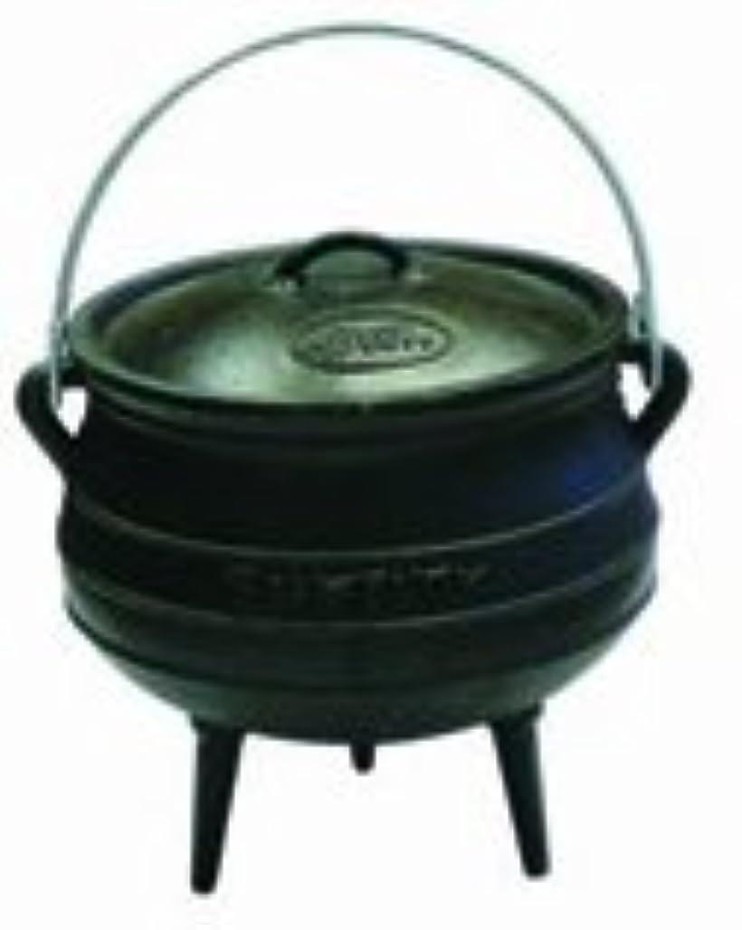 バイオリニスト現実ラウンジBest Duty Cast Iron Potjie Pot Size 3 - Including Complementary Lid Lifter Knob (Value $9.95) by Best Duty