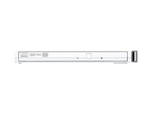 BUFFALO Surface対応 書き込みソフト添付 ケーブル収納 ウルトラスリムタイプ ポータブルDVD ホワイト DVSM-PT58U2V-WHC