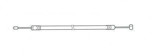 ブリヂストン シフトレバーワイヤー シマノ内装3段用 (シフトワイヤー) 1.480mm ブラック