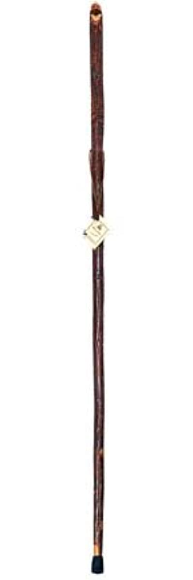 仕事干ばつ打ち負かす54 Hickory Walking Stick with Carved Whistle by Whistle Creek