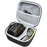 シューティングレンジ用耳保護、インパクトスポーツ用Awesafe電子聴覚保護[ハードトラベルストレージキャリングケースバッグ付き]、安全イヤーマフ、NRR 22、シューティングおよびHuntiに最適