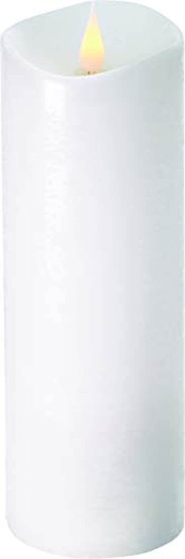 方向聴衆周りエンキンドル 3D LEDキャンドル ラスティクピラー 直径7.6cm×高さ23.5cm ホワイト