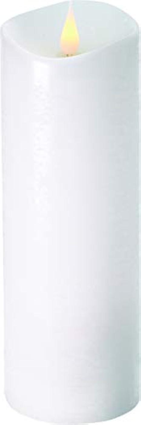 支払いアスレチック戸棚エンキンドル 3D LEDキャンドル ラスティクピラー 直径7.6cm×高さ23.5cm ホワイト