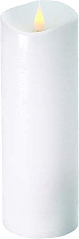 地元その結果信念エンキンドル 3D LEDキャンドル ラスティクピラー 直径7.6cm×高さ23.5cm ホワイト