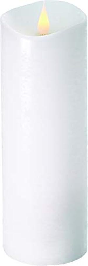 下オーラルハンディキャップエンキンドル 3D LEDキャンドル ラスティクピラー 直径7.6cm×高さ23.5cm ホワイト