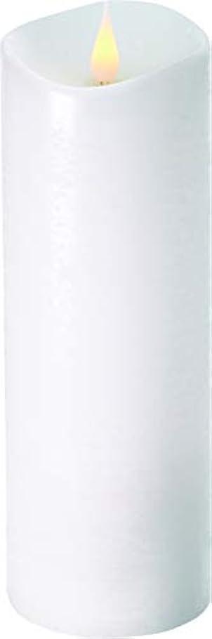 作業ジュラシックパーク試みるエンキンドル 3D LEDキャンドル ラスティクピラー 直径7.6cm×高さ23.5cm ホワイト