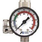 アネスト岩田 ストレートタイプ手元圧力計 AJR02SVG