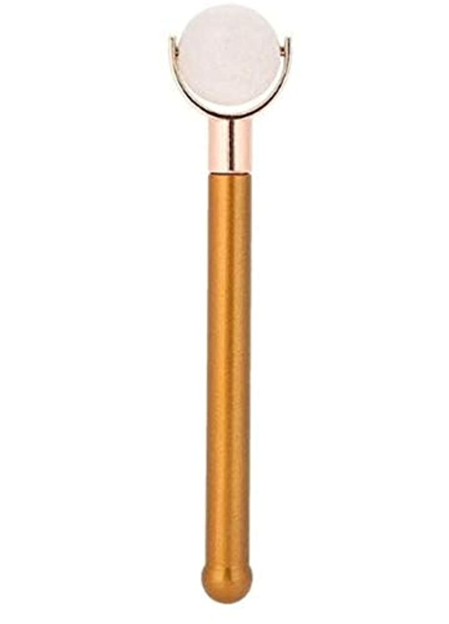 真珠のような爬虫類ストロークEcho & Kern 翡翠フェイスローラー顔用翡翠ローラー Durable Jade Purple Roller metal handle Spa Acupunture Massage tool (白いジェイド)