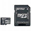 BUFFALO Class6 microSDHC 変換アダプタ付属 4GB RMSD-BS4GA
