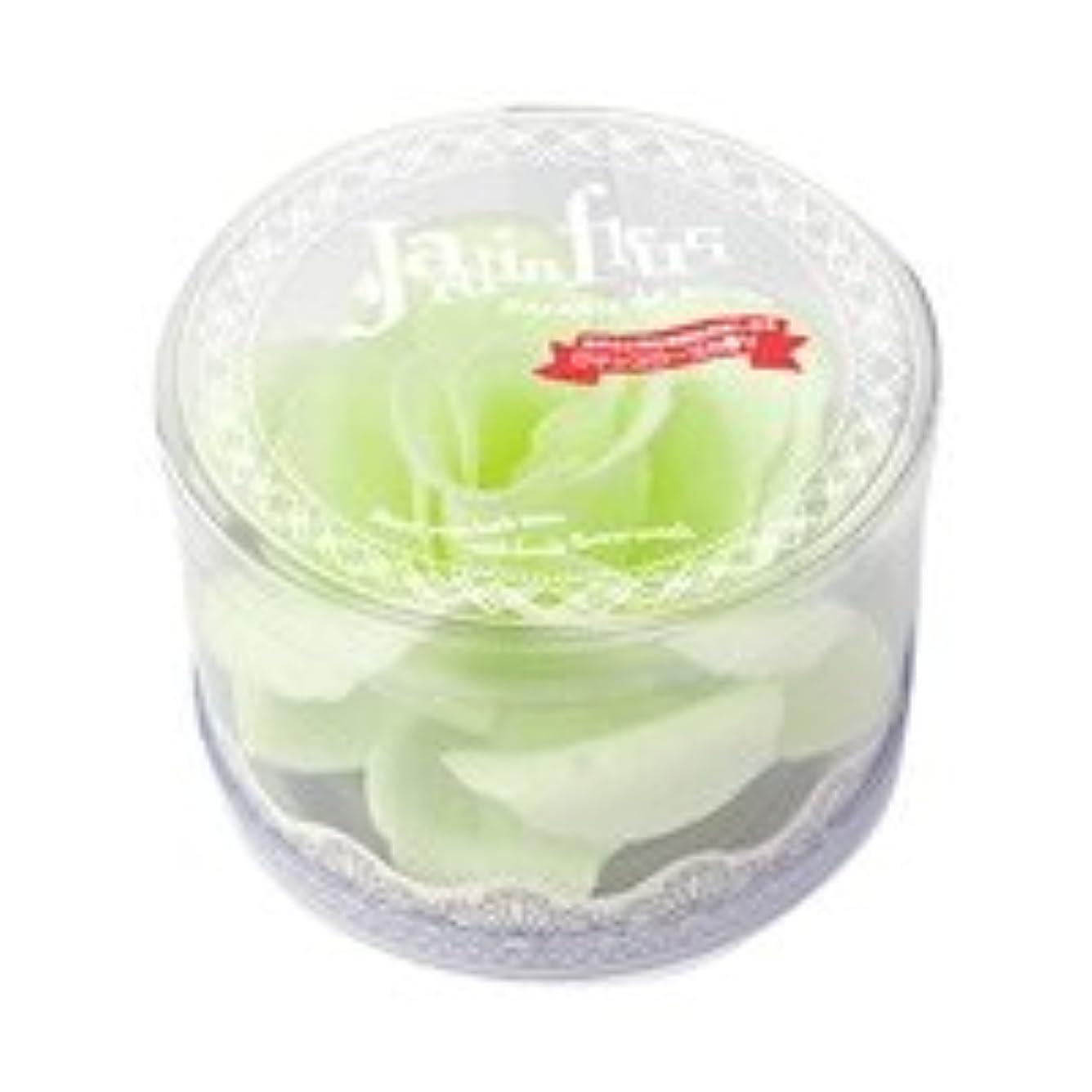プレーヤー咽頭払い戻しジャンダンフルリ バスペタル ボックス「ペール グリーン」6個セット ロマンスローズの香り