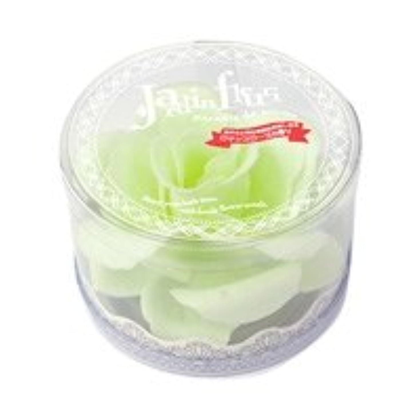 ステープルストレスの多い混雑ジャンダンフルリ バスペタル ボックス「ペール グリーン」6個セット ロマンスローズの香り