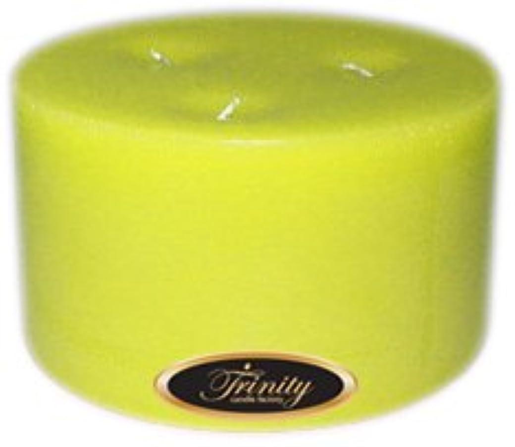 変位火山の再現するTrinity Candle工場 – レモングラス – Pillar Candle – 6 x 3