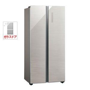 アクア 449L 2ドア冷蔵庫(ヘアラインシルバー)AQUA AQR-SBS45F-S