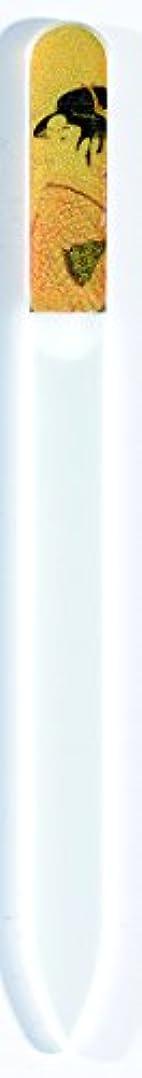 ナインへ仲介者影橋本漆芸 ブラジェク製高級爪ヤスリ 特殊プリント加工 ポッピンを吹く女 OPP