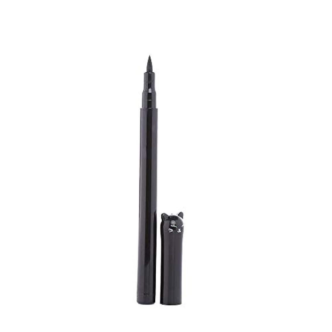 香ばしい開発する理由Semperole - 1PC NEWビューティーキャットスタイルブラック長持ち防水リキッドアイライナーアイライナーペン鉛筆メイクアップ化粧品ツール
