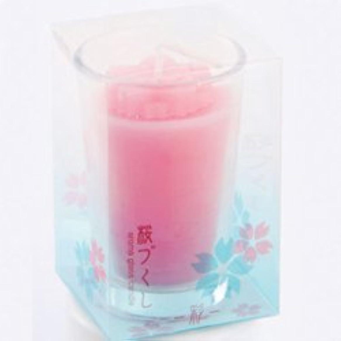 刺繍活性化避けるグラスキャンドル 桜づくし 彩