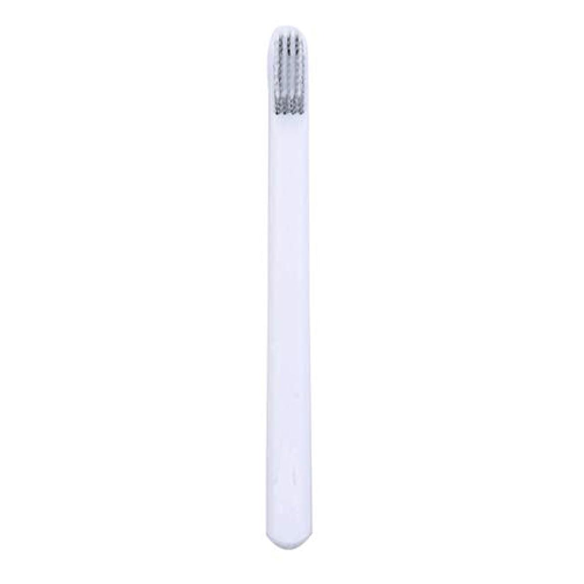 レンドパプアニューギニアたぶんUnderleaf 大人のためのカップルの歯ブラシの柔らかい歯ブラシEcoの友好的で柔らかいブラシのヘッドタケ歯ブラシ、白