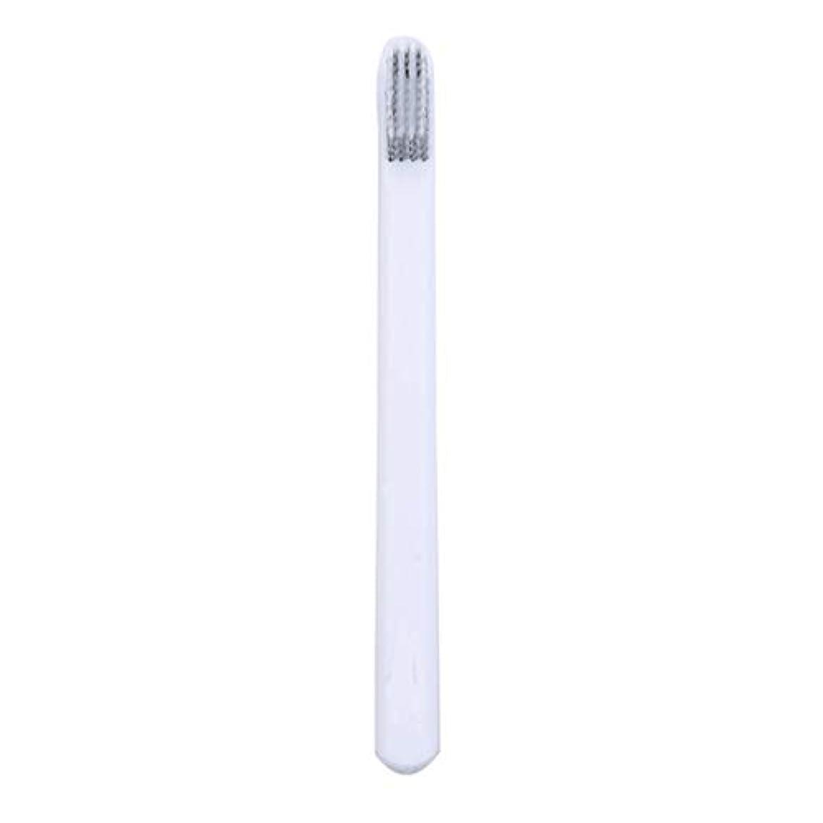 トリプル円周祭司Underleaf 大人のためのカップルの歯ブラシの柔らかい歯ブラシEcoの友好的で柔らかいブラシのヘッドタケ歯ブラシ、白