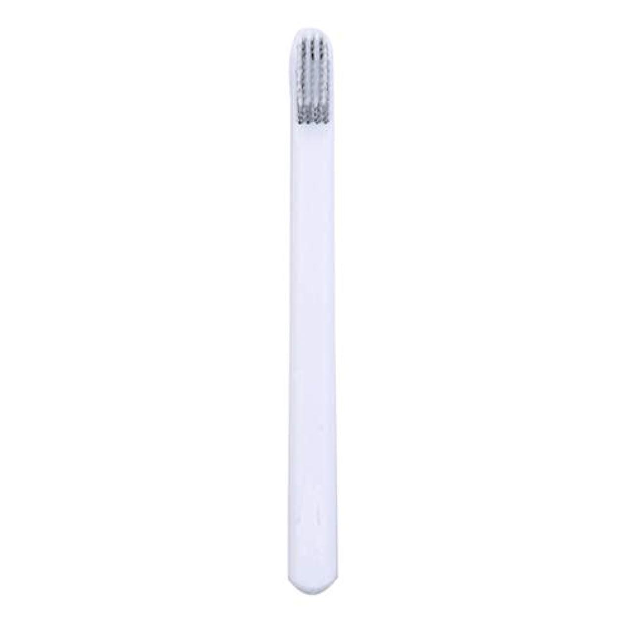 背の高い勝利保証Underleaf 大人のためのカップルの歯ブラシの柔らかい歯ブラシEcoの友好的で柔らかいブラシのヘッドタケ歯ブラシ、白