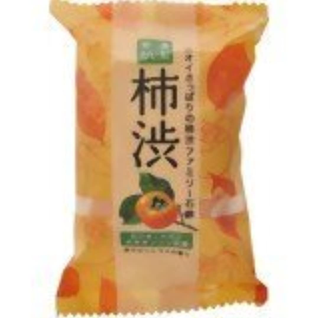 繊維つま先勉強するファミリー柿渋石鹸 80g×(5セット)