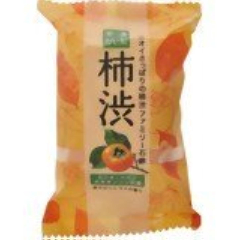 比率黄ばむ簡略化するファミリー柿渋石鹸 80g×(5セット)