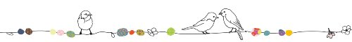 ミミ・ルゥ 小鳥とパール(5Mウォールボーダー) マルチカラー ART0110