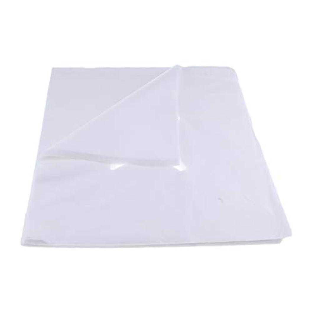 蒸発するパッドさまようchiwanji 200ピース不織布使い捨てマッサージベッドフェイスクレードルクッションシートカバー - L