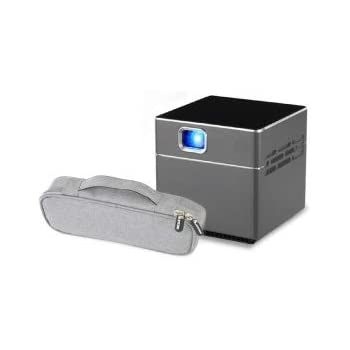 40bad2831f miniプロジェクター Pico Cube ピコキューブ 収納ポーチ付き ワイヤレス wifi 接続 三脚付 リモコン付 S6 PSE 技適認証済