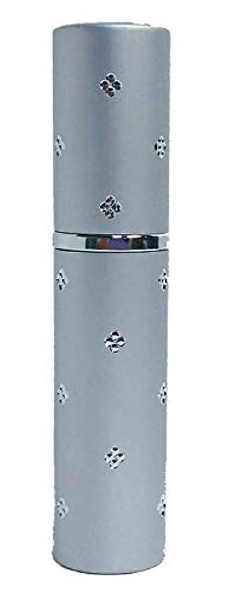 持続する品ノベルティChicca Cerchio (キッカチェルキオ) 差がつくアトマイザー メタル ユニセックス 香水入れ (ラメシルバー)