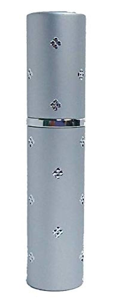 健康的慣れるのスコアChicca Cerchio (キッカチェルキオ) 差がつくアトマイザー メタル ユニセックス 香水入れ (ラメシルバー)
