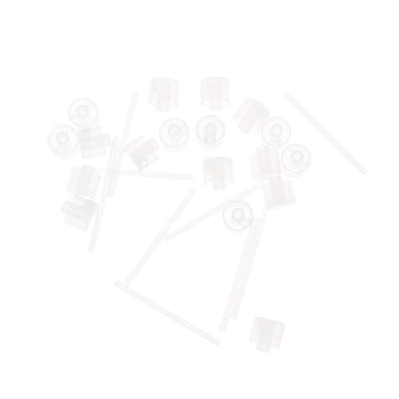 スペア画面動作Lurrose 20ピースプラスチック香水ポンプディスペンサー香水ディスペンサーツール