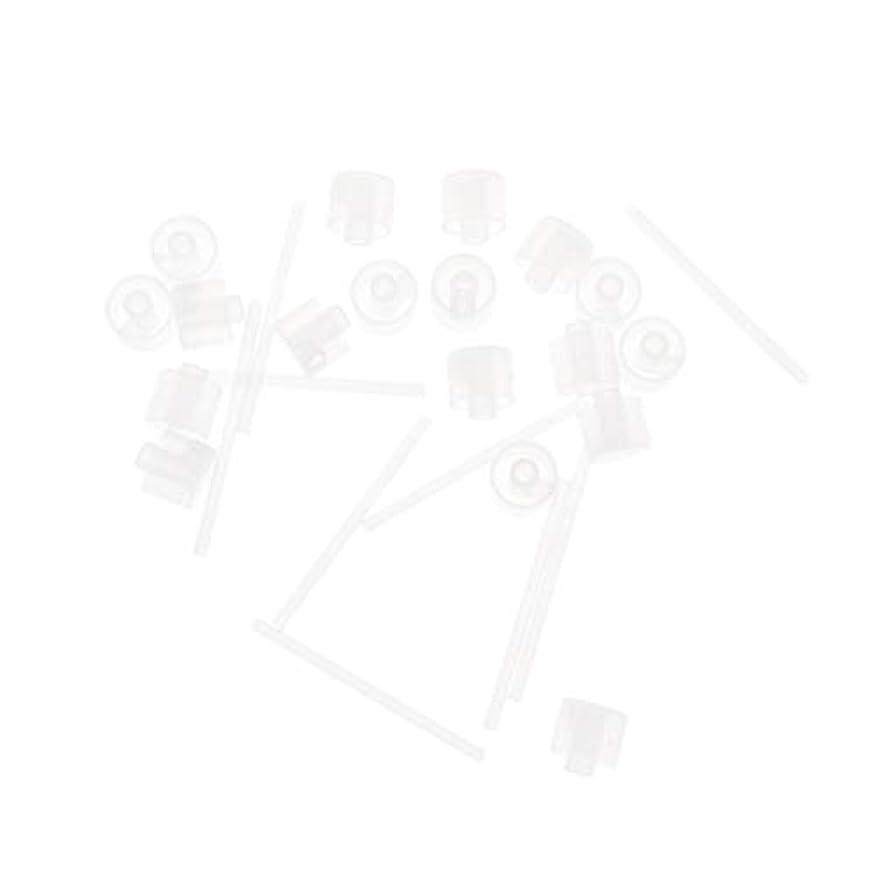 乱雑なプラスチック非アクティブLurrose 20ピースプラスチック香水ポンプディスペンサー香水ディスペンサーツール