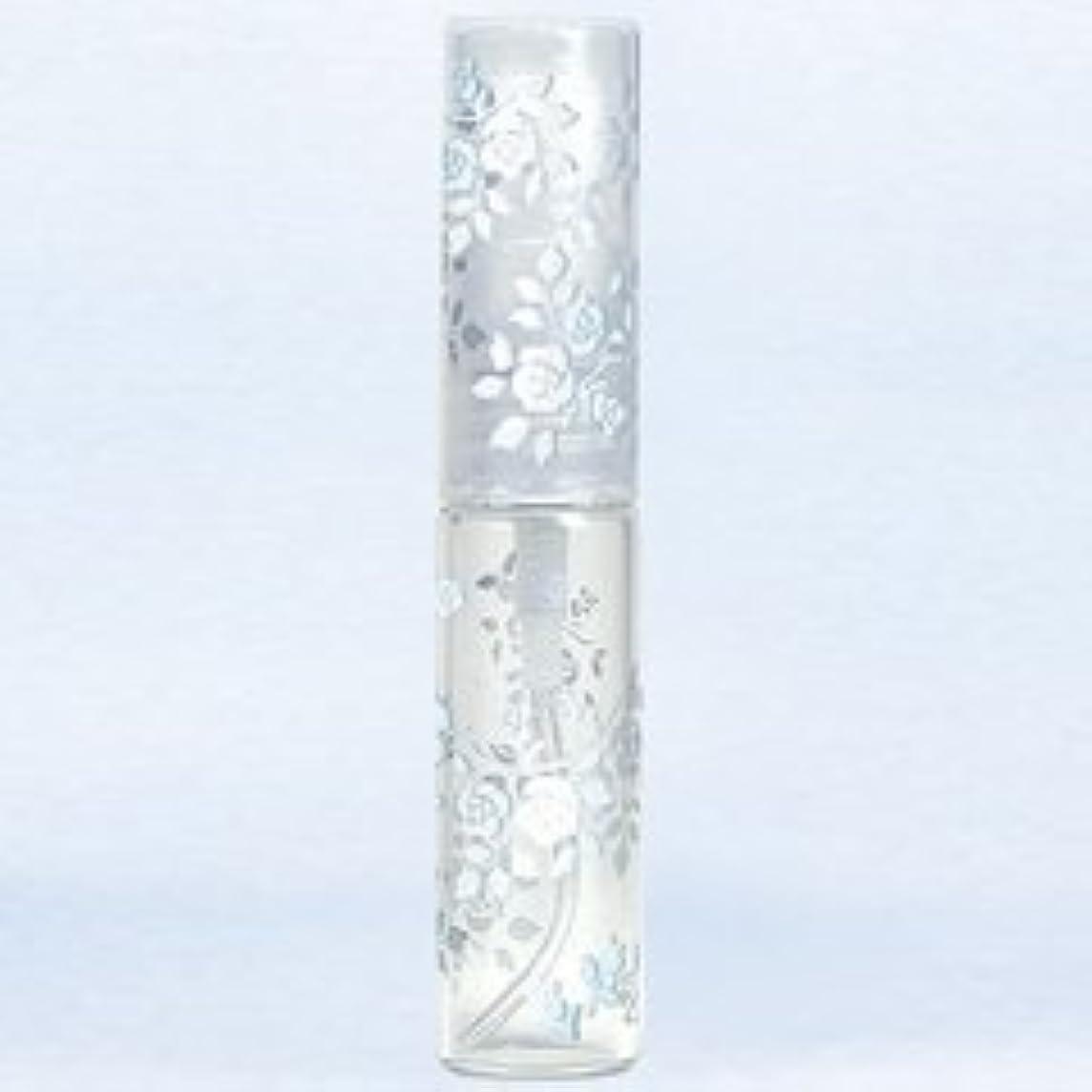 ミスペンドクモけがをする【ヤマダアトマイザー】グラスアトマイザー プラスチックポンプ 柄 50121 バラ シルバー 4.7ml