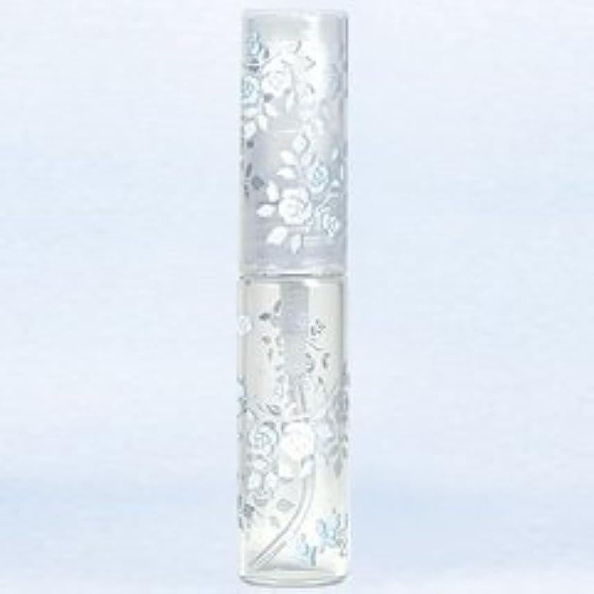 先にシャックル幼児【ヤマダアトマイザー】グラスアトマイザー プラスチックポンプ 柄 50121 バラ シルバー 4.7ml