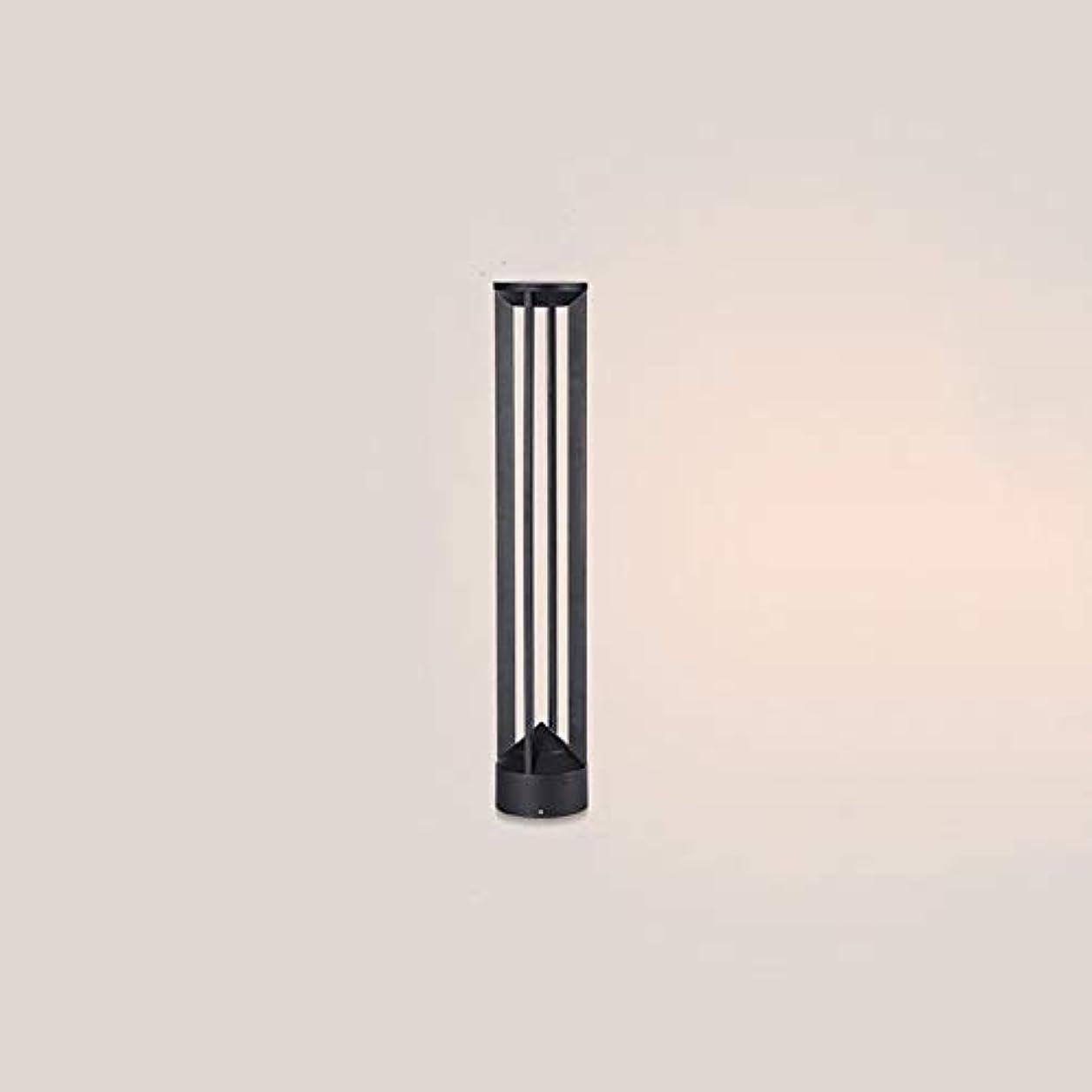 アーク来てインストールPinjeer Led IP55防水ラウンド屋外ガーデンライトヨーロッパ現代クリエイティブブラックアルミラウンドピラーライトアンチ錆ポストライト芝生ストリートパーク芝生装飾コラムランプ