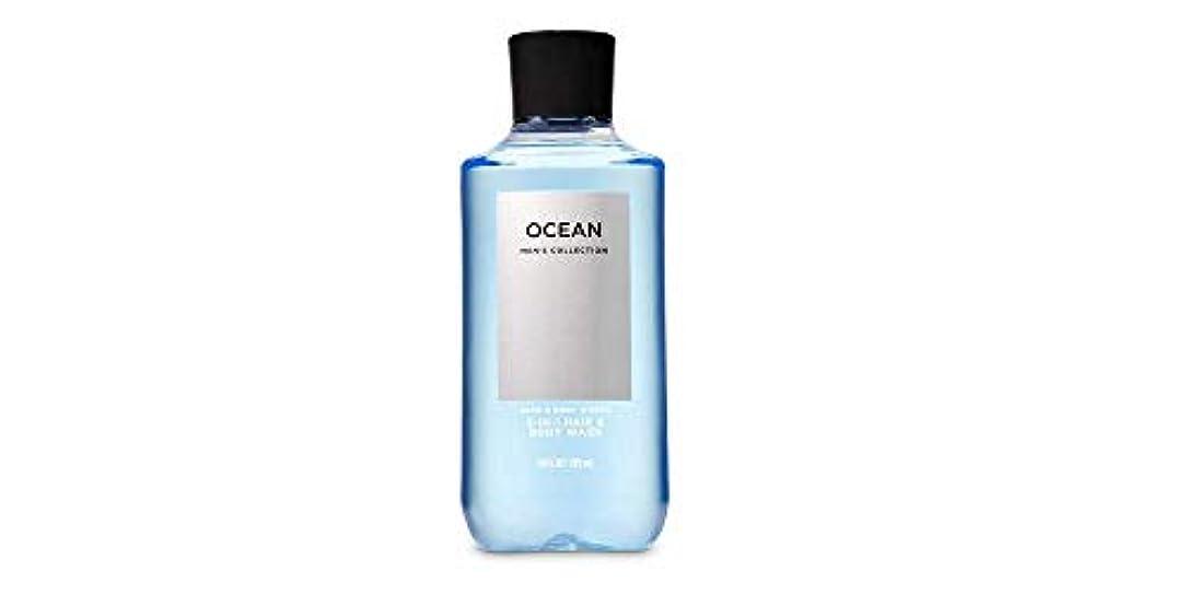 落花生吹きさらし郵便局【並行輸入品】Bath & Body Works Signature Collection 2-in-1 Hair + Body Wash Ocean For Men 295 mL