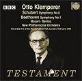 Otto Klemperer, direction Mozart - Schubert - Berlioz - Beethoven