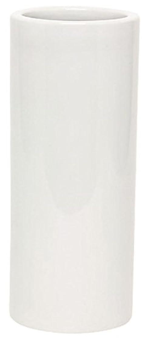 フェザー横たわるコーチマルエス 花瓶 御仏具 白無地投入花瓶 7.0寸 ホワイト