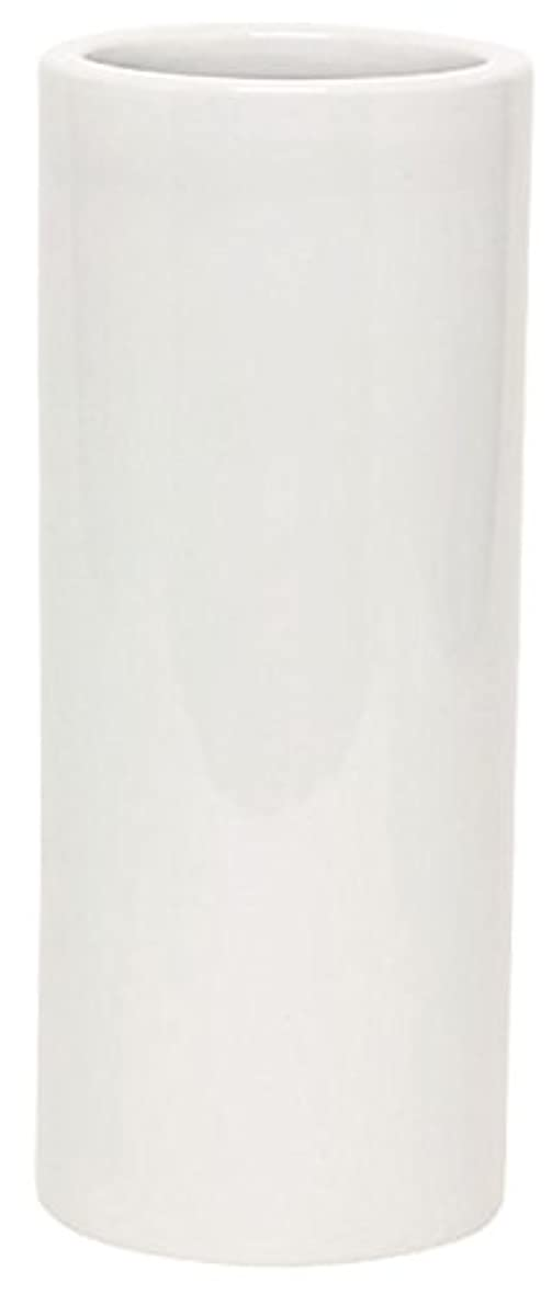 滑り台出来事スクラップブックマルエス 花瓶 御仏具 白無地投入花瓶 7.0寸 ホワイト