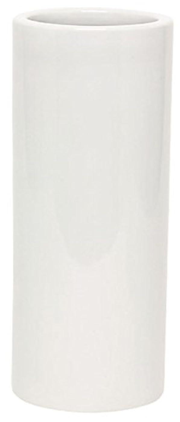 ローラー脆い服を片付けるマルエス 花瓶 御仏具 白無地投入花瓶 7.0寸 ホワイト