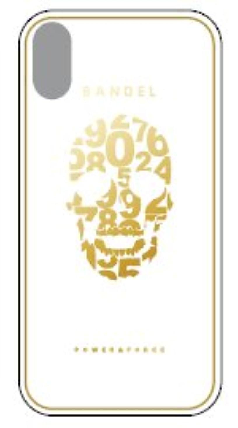 インディカ支配的示すバンデル iPhone X ケース メタリック スカル ホワイト×ゴールド BANDEL アイフォン 10