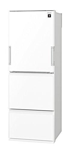 シャープ 冷蔵庫 高品位ガラスドア採用 プラズマクラスター搭載 350Lタイプ ピュアホワイト SJ-GW35C-W