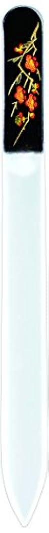 やさしい石広告する橋本漆芸 ブラジェク製高級爪ヤスリ 二月 梅 紙箱