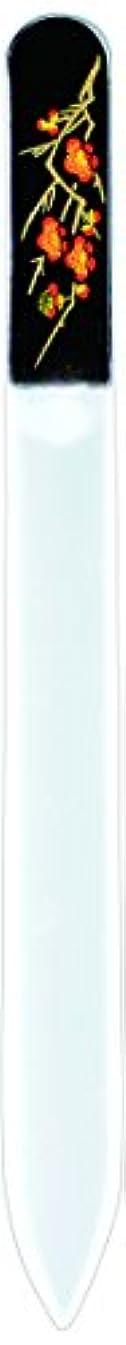 家族神秘世紀橋本漆芸 ブラジェク製高級爪ヤスリ 二月 梅 紙箱
